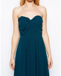 Jarlo Blue Yolanda Bandeau Maxi Dress