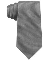 DKNY - Gray Golden Island Micro Solid Slim Tie for Men - Lyst