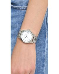 Marc By Marc Jacobs - Metallic The Slim 36mm Watch - Silver - Lyst