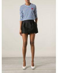 Play Comme des Garçons Blue Striped T-Shirt