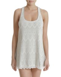 In Bloom - Gray Lace Chemise - Lyst
