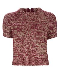 Marc By Marc Jacobs Pink Short Sleeve Sweater