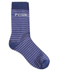 French Connection - Blue Fcuk 3 Pack Socks for Men - Lyst