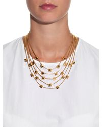 Diane von Furstenberg - Metallic Geometric Gold-Plated Necklace - Lyst