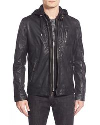 Lamarque | Black Leather Hoodie for Men | Lyst