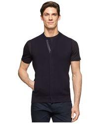 Calvin Klein | Black Men's Hidden-zipper Ribbed Vest for Men | Lyst