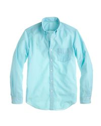 J.Crew - Blue Lightweight Chambray Shirt for Men - Lyst