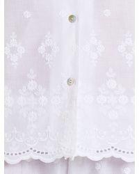 John Lewis White Broderie Anglais Pyjama Set