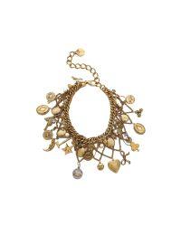 Erickson Beamon | Metallic My Beloved Charm Lariat Necklace - Gold | Lyst