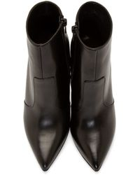 Versus Black Medallion Stilleto Boots
