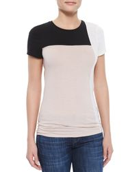 Vince | Black Short-sleeve Colorblock Tee | Lyst