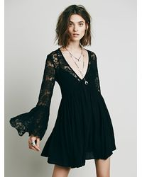 Free People - Black With Love Dress - Lyst