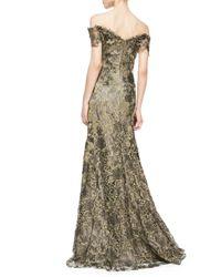 Rene Ruiz   Green Off-The-Shoulder Lace Mermaid Gown   Lyst