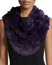 Gorski | Purple Chinchilla Knit Fur Ruffle Shawl | Lyst