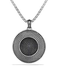 David Yurman | Metallic Cable Coil Large Pendant with Diamonds | Lyst