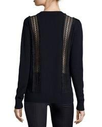 Adam Lippes - Blue Mixed-stitch Merino Wool Sweater - Lyst