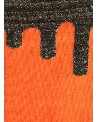Happy Socks Orange Paint Drip' Lurex Cuff Socks for men