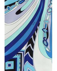 Emilio Pucci | Printed Silk Cropped Top - Blue | Lyst