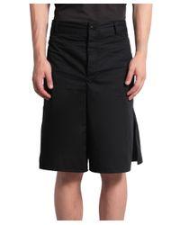Damir Doma - Black Cotton Bermuda Shorts for Men - Lyst