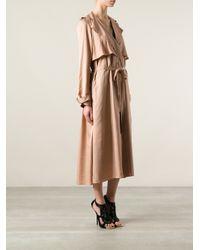 Lanvin Natural Belted Trench Coat
