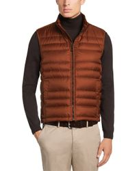 BOSS Red Quilted Waistcoat With Down Filling: 'davio1' for men