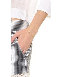 Tai - Orange Dual Pave Stone Open Bracelet Peachgold - Lyst
