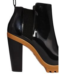 Melissa - Soldier Black and Camel Contrast Heeled Boots - Lyst