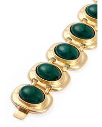 Kenneth Jay Lane | Green Stone Station Bracelet | Lyst