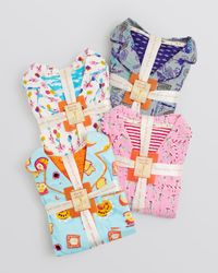 Munki Munki Multicolor When Pigs Fly Flannel Pajama Set