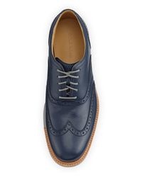 Cole Haan - Blue Great Jones Leather Wing-tip Oxford for Men - Lyst