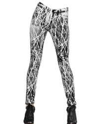 Proenza Schouler | White Twig Print Stretch Cotton Skinny Jeans | Lyst