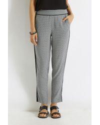 Oasis Gray Geo Side Stripe Trouser