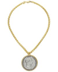 Kenneth Jay Lane | Metallic Gold Plated Coin Necklace | Lyst