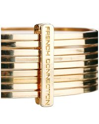 French Connection - Metallic Metal Bangle Stack - Lyst