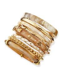 Ashley Pittman | Metallic Hazina Light Horn Bangles | Lyst