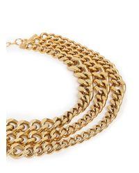 Ela Stone - Metallic 'editha' Graduated Triple Chain Necklace - Lyst
