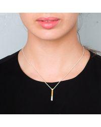 Maya Magal - Metallic Dipped Post Pendant Silver And Gold - Lyst