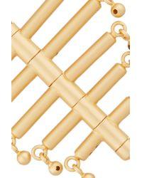 Paula Mendoza - Metallic The Little Backbone Gold-plated Earrings - Lyst