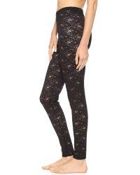 Falke Floral Lace Leggings - Black
