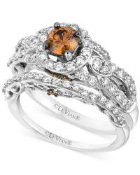Le Vian - Metallic Chocolate Diamond (1-1/2 Ct. T.w.) Engagement Ring Set In 14k White Gold - Lyst