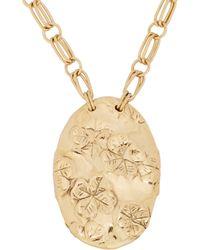 Aurelie Bidermann Metallic Nymphéas Pendant Necklace