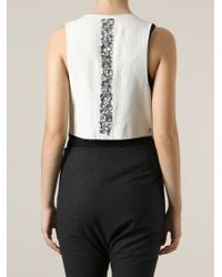 Dondup Natural Mirror And Glass Embellished Waistcoat