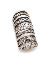 Pamela Love Metallic Double Cage Ring - Silver
