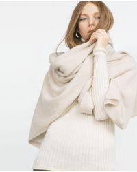 Zara | Natural Cashmere Scarf | Lyst
