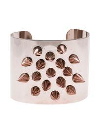 Joomi Lim | Pink Rhodium & Rose Gold Spike Cuff | Lyst