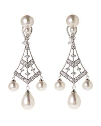 Majorica - Gray Silver-Tone & Organic Pearl Earrings - Lyst