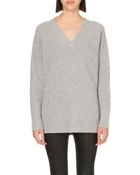 Vince - Gray Wool And Cashmere-blend Jumper - Lyst