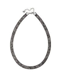 Swarovski | Black Stardust Gradient Necklace | Lyst