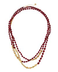 Nakamol | Purple Long Merlot Quartz Beaded Necklace | Lyst