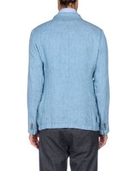Armani - Blue Blazer for Men - Lyst